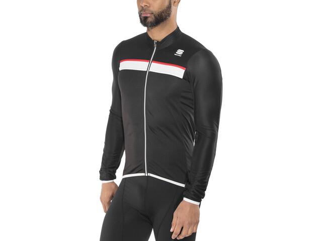 b40f9bdbf Sportful Pista Long Sleeve Jersey Men black white-red günstig kaufen ...